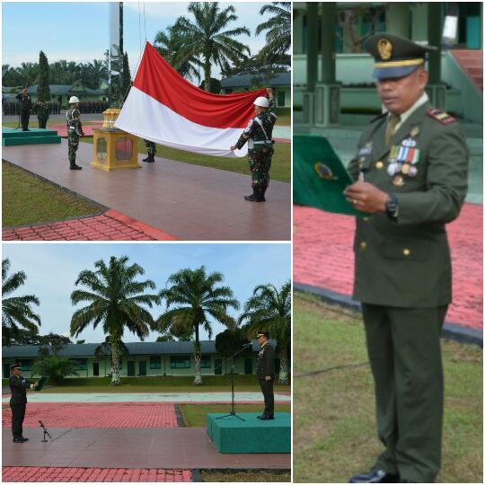 Letkol Inf Y.R Raja Sulung Purba Sebagai Irup pada Peringatan Hari Pahlawan di Makorem Pantai Timur