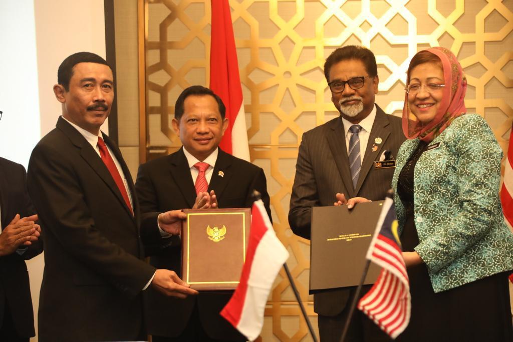 Pemerintah Indonesia dan Pemerintah Malaysia teken MoU tentang Demarkasi dan Survei Batas Internasional