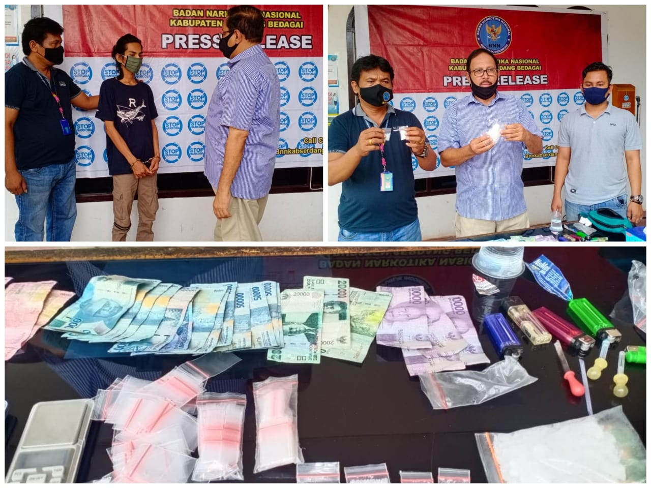 BNNK Sergai Ringkus Bandar Narkoba Asal Aceh