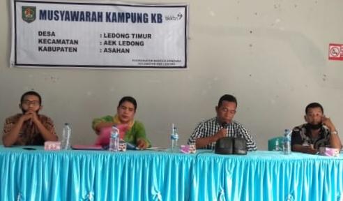 Camat Aek Ledong Pimpin Rapat Pokja Kampung KB Di Desa Ledong Timur