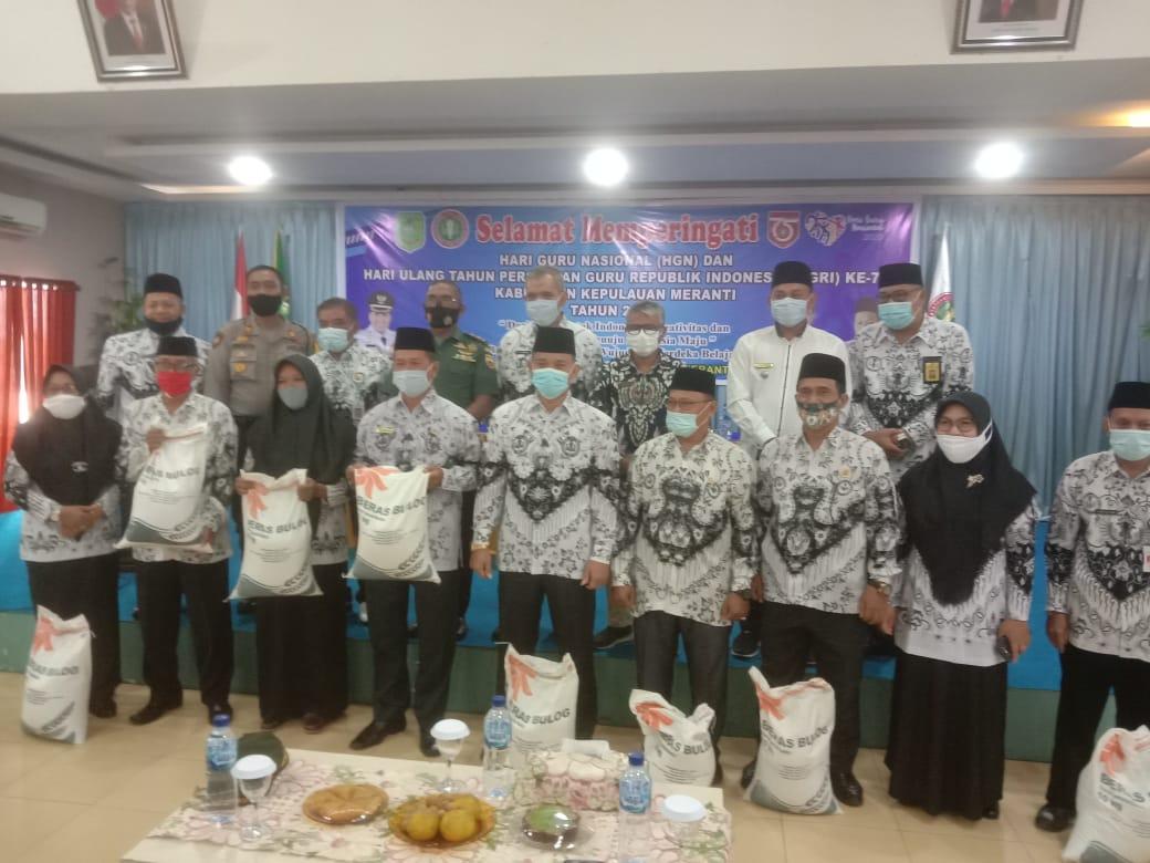 PGRI Meranti Peringati HUT PGRI Ke 75, Dan Hari Guru Nasional