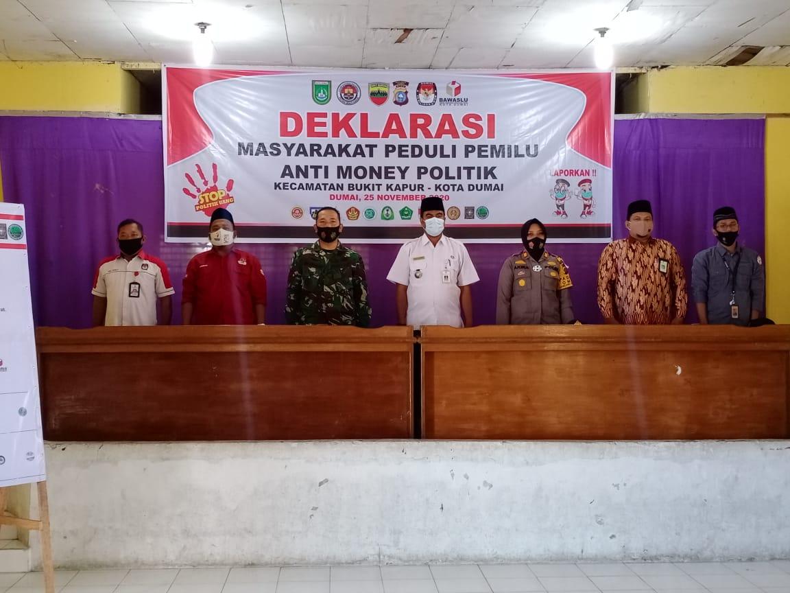 Deklarasi Peduli Pemilu Anti Money Politik Masyarakat Bukit Kapur Untuk Wujudkan Pemilu Damai