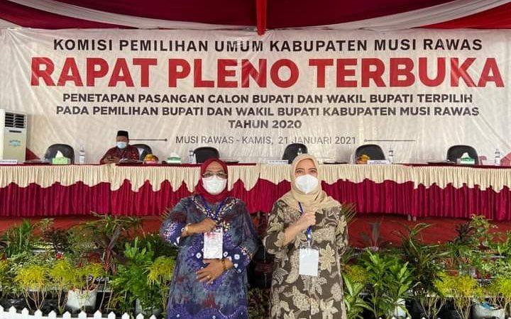 Rapat Pleno KPU Mura, Menetapan Calon Terpilih, Hj.Ratna Mahmud dan Hj.Suwarti No urut 01