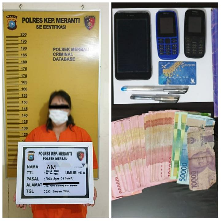 Terlibat Judi Togel Online, IRT di Teluk Belitung Diciduk Polisi