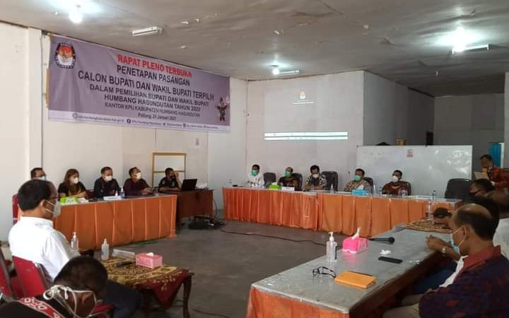 Tanpa Gugatan MK Perintahkan KPU HH Tetapkan Hasil Pilkada Humbahas