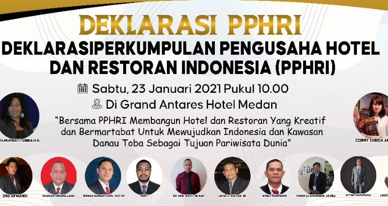 Besok PPHRI Deklarasi,  Muspida Sumut dan Pegusaha Hotel dan Restoran Diundang Hadir