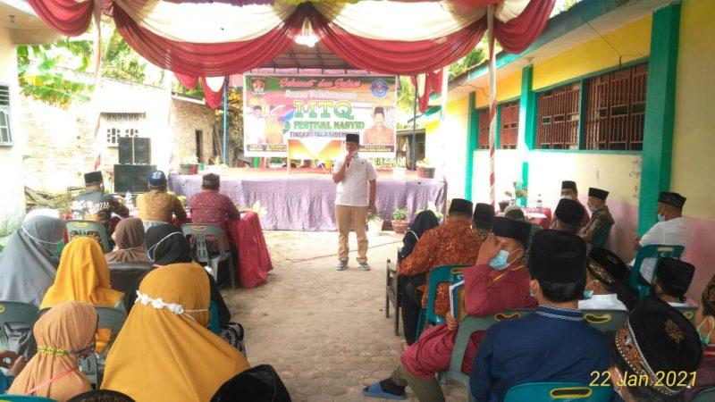 Camat Pulo Bandring Buka MTQ & Festival Nasyid Desa Sidomulyo