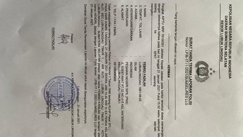 Oknum Kabag di Kab Musi Rawas Diduga Aniaya Pegawai Pemkot Lubuklinggau