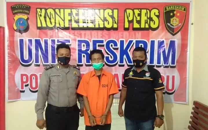 Ketangkap Basah Curi Kayu Dari Rumah Kosong, Warga PWS Gol di Polsek Medan Baru