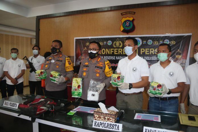 Polresta Deli Serdang Ungkap Kasus Narkotika Jenis Sabu Seberat 5.142 Gram