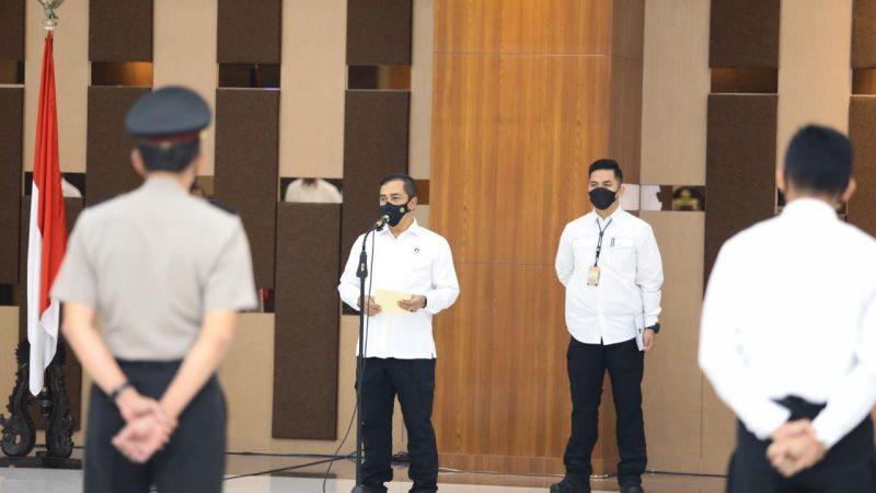 Kabareskrim Polri Komjen Pol Agus Andrianto Pimpin Upacara Korps Raport KNP Pengabdian Anggota Bareskrim