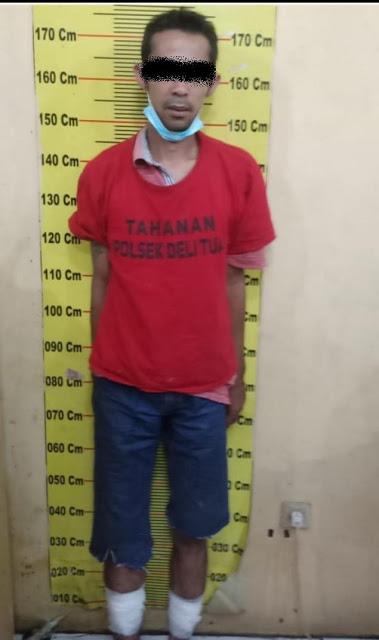Polsek Delitua Tangkap Pelaku Kasus Pencurian Kendaraan Roda Dua