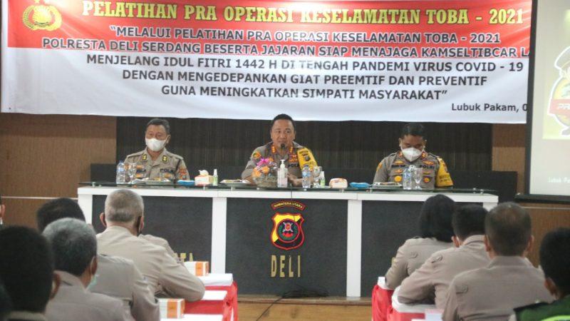 Polresta Deli Serdang Melaksanakan Latihan Pra Operasi Keselamatan Toba 2021