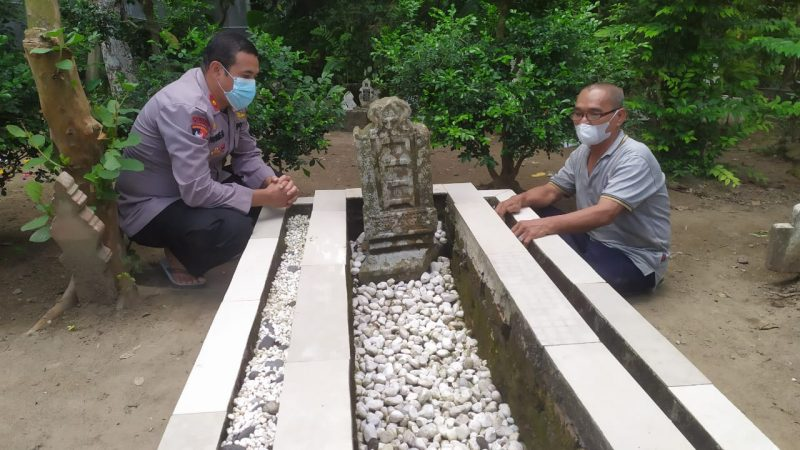 Sambut Bulan Suci Ramadhan 1442 H, Kapolsek Medan Helvetia Ziarah Ke Makam Datuk Uteh