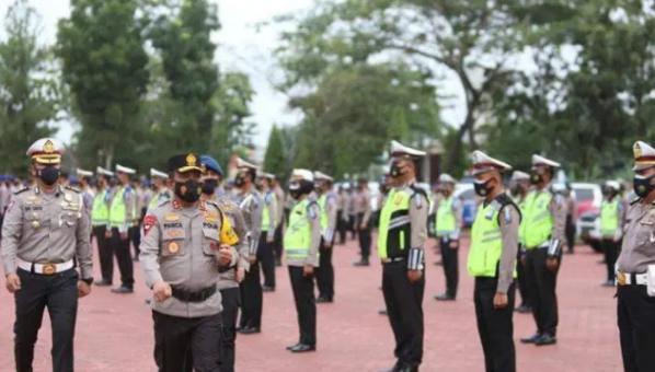 Kapolda Sumut Pimpin Apel Gelar Pasukan Operasi Keselamatan Toba 2021