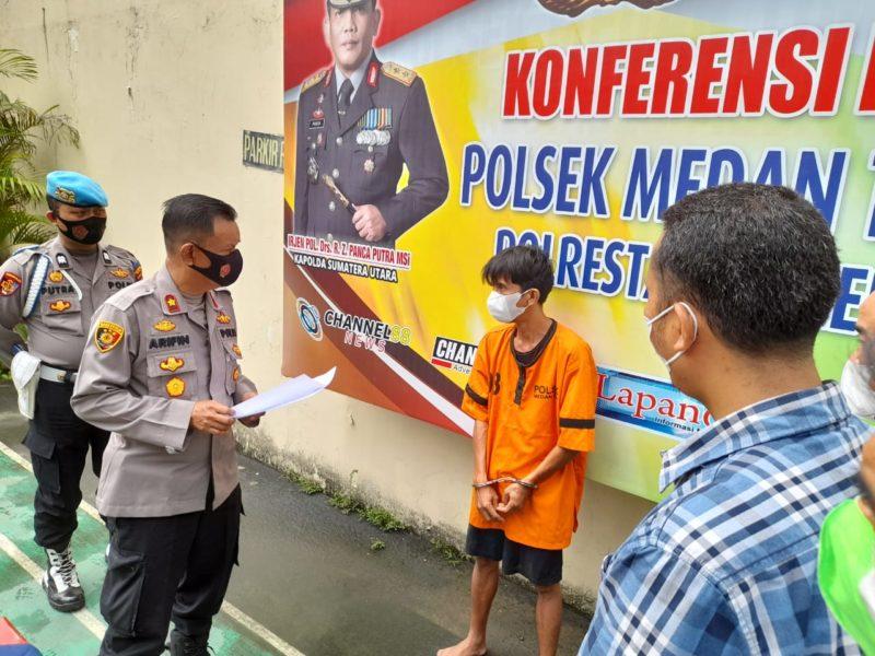 Polsek Medan Timur Ungkap Pencuri Barang Milik Pasien Isolasi RSU Pringadi