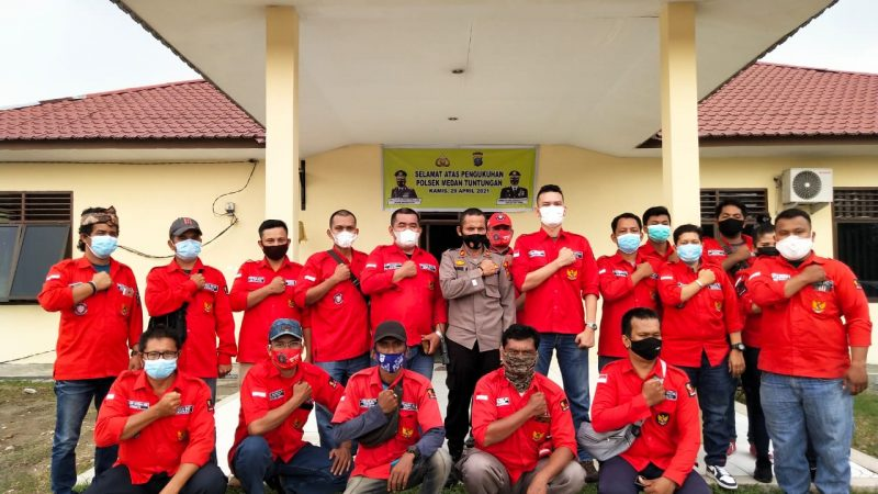 Kapolsek Medan Tuntungan Terima Audiensi PAC PBB Medan Tuntungan