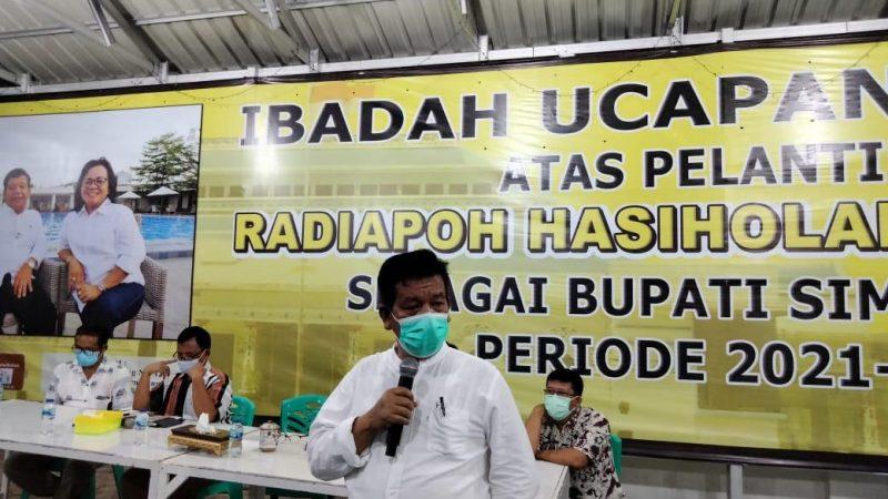 Silaturahmi dengan Insan Pers, Radiapoh H Sinaga Minta Dukungan Wujudkan Mimpi-Mimpinya Membangun Simalungun